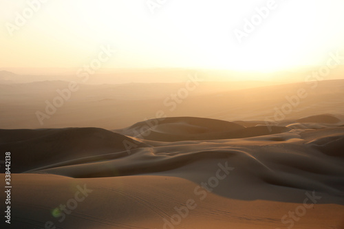 Fototapety, obrazy: Sunset over Ica Desert, Close to Huacachina Oasis. Ica, Peru.