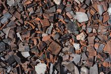 Red Broken Tiles, Slate On The...