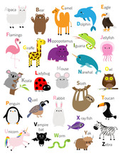 Animal Zoo Abc Alphabet. Cute ...