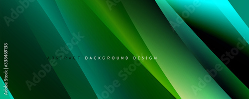 Obraz Wave liquid style lines with shadows and light on gradient background - fototapety do salonu