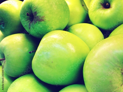 Tela Full Frame Shot Of Granny Smith Apples