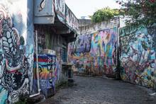 Graffiti Alley In Sao Paulo Br...