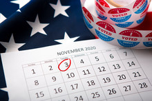 Calendar With Election Day 202...