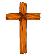 Rustic Wooden Christian Cross