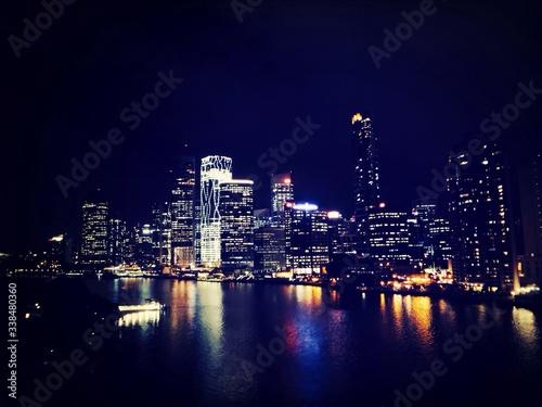 Fototapety, obrazy: City Illuminated At Night