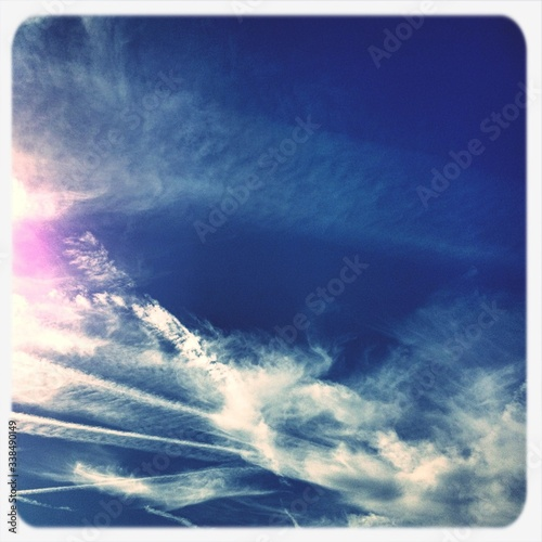 View Of Blue Sky And Clouds #338490149