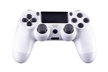 White Video Game Joystick Gamepad Isolated On A White Background