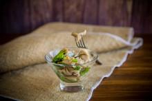 Pickled Mushroom Salad With Le...