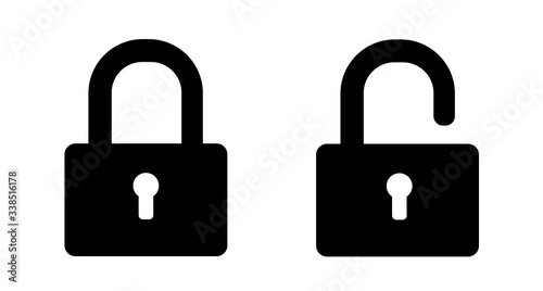 Set of lock icons Canvas Print