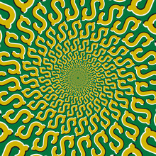 Optical Motion Illusion Vector...