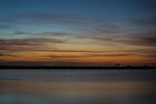 Sunrise Over Lake, Launch Pad ...