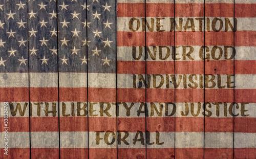 vintage american flag for which it stands, one nation under god indivisible with Tapéta, Fotótapéta
