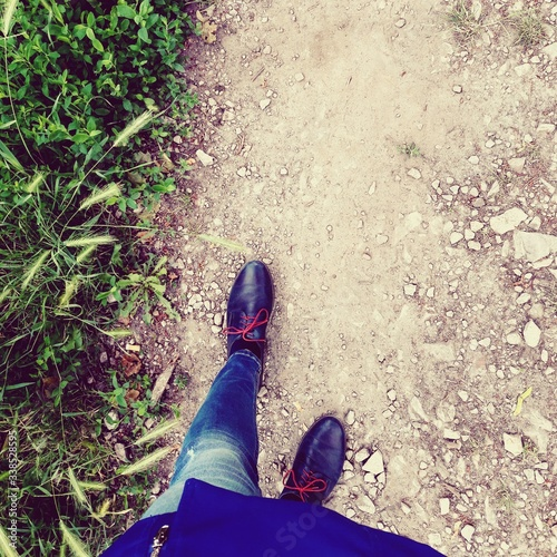 Fototapeta walking to your goals
