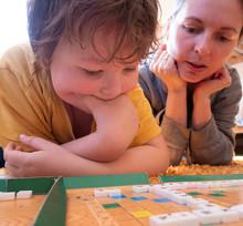 Children Play In Russian Scrab...