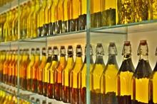 Infused Oil Bottles In Rack