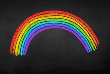 Vector Illustration Of Rainbow Arc