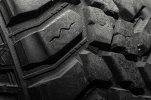 Close Up View Of A Mud Tire Tread Used Mainly For Off Road.