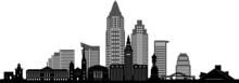 CLEVELAND OHIO City Skyline Si...