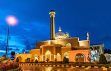 Brunei International Airport Mosque In Bandar Seri Begawan, The Capital Of Brunei Darussalam