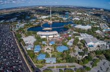 Aerial View Of The SeaWorld Am...