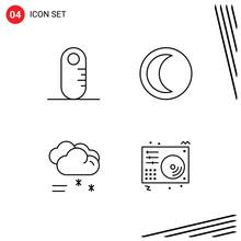 4 Universal Line Signs Symbols...