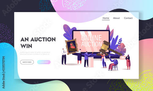 Photo Online Auction Landing Page Template