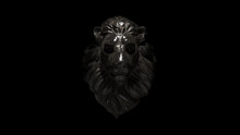 Lion Dusty Iron Statue 3d Illu...