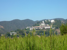 Sunny View Of Some Beautiful Building On The Hills