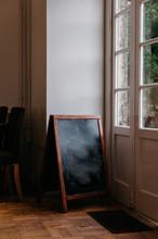 Blackboard Sign Inside A Vinta...