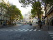 on a city street in Paris, France, deserted, no tourists, self-isolation, quarantine