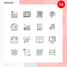 Mobile Interface Outline Set O...