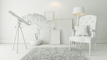 Bergere And Picture Frames Bac...