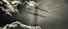 Low Angle View Of Electricity Pylon