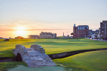 Swilcan Bridge And The Old Course At Sunrise