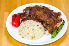 Gyro Kebab With Salad And Rice...