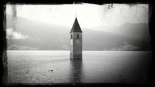 Lake Reschen With Bell Tower