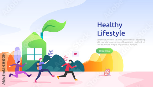 Fotografia active healthy lifestyle habits concept
