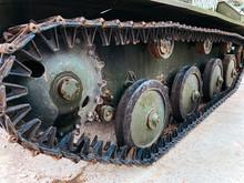 Tank Caterpillar In City, Iron...