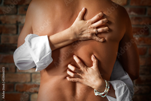 Fotografie, Obraz Man and woman making love passionately