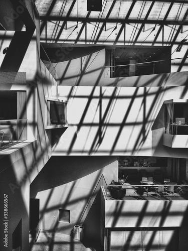 Fotografie, Obraz Courtyard Of Modern Building