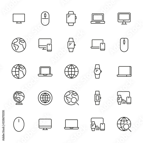 web site line icons set. Wall mural