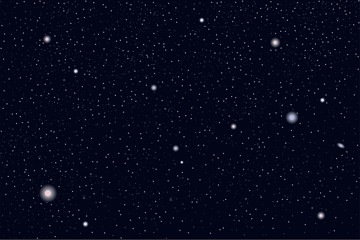Space background with realistic stars. Vector illustration.