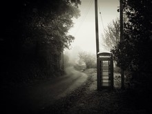 Telephone Booth By Country Road