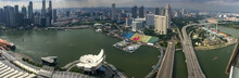 Panoramic Aerial View Of Singa...
