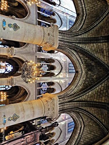 Chandelier In Church Fototapet