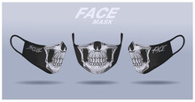 Face Mask Design Template, Dus...
