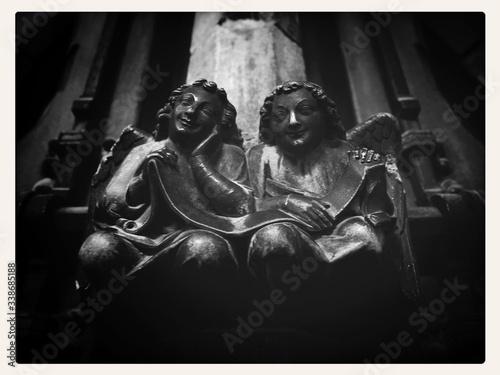 Fotografie, Obraz Sculptures In Chapel