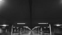 Illuminated Underground Parking Lot