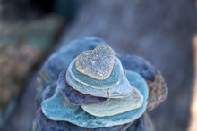 Stone Heart On Pebble Stack