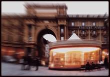Blurred Motion Of Piazza Della Repubblica